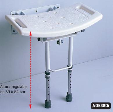 10 Asiento abatible con patas AD538D