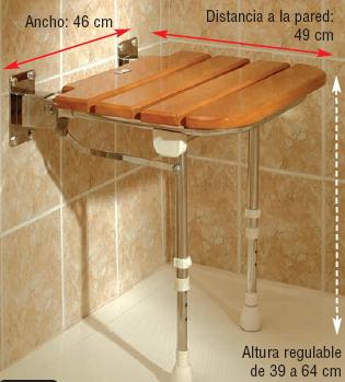 13 Asiento abatible de madera AD529